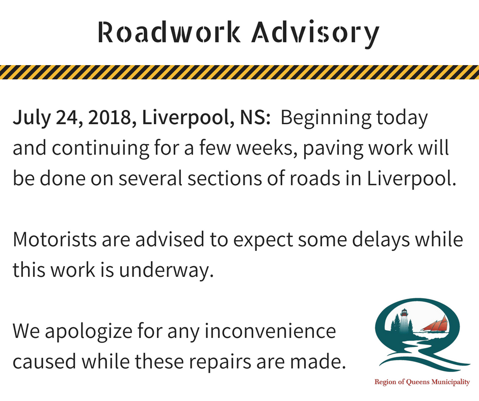 Roadwork Advisory