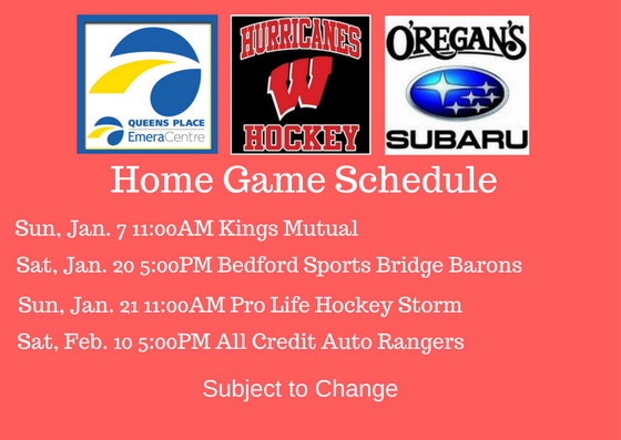 Home Game Schedule WH 2018